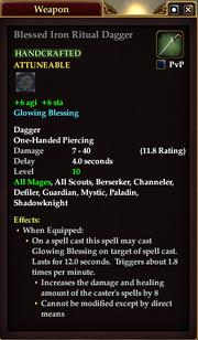 Blessed Iron Ritual Dagger