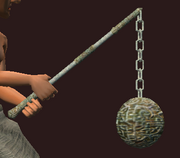 Heavy Great Flail of Splintered Skulls (Equipped)