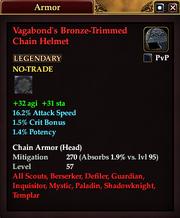 Vagabond's Bronze-Trimmed Chain Helmet
