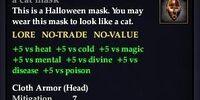 A cat mask