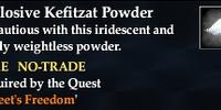 Explosive Kefitzat powder