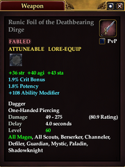 Runic Foil of the Deathbearing Dirge