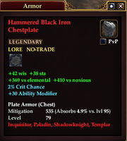 Hammered Black Iron Chestplate