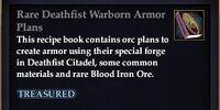 Rare Deathfist Warborn Armor Plans