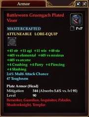 Battleworn Gruengach Plated Visor