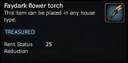 Faydark flower torch