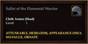 Sallet of the Elemental Warrior