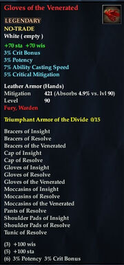 Gloves of the Venerated