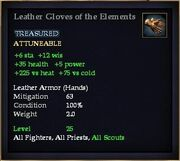 Leather Gloves of the Elements