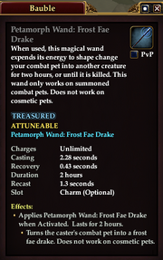Petamorph Wand Frost Fae Drake