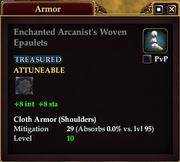 Enchanted Arcanist's Woven Epaulets