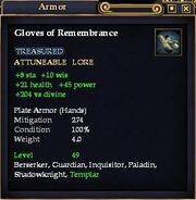 Gloves of Remembrance