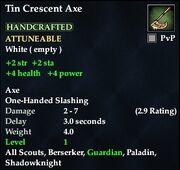 Tin Crescent Axe