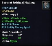 Boots of Spiritual Healing