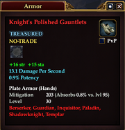 Knight's Polished Gauntlets
