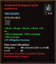 Awakened Scaleguard plate vambraces