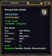 Firwood kite shield