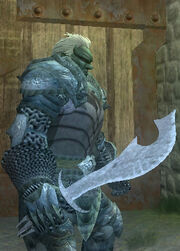 Druidic Scimitar - Equipped
