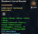Woodone's Carved Bracelet