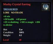 Murky Crystal Earring