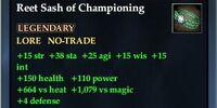 Reet Sash of Championing