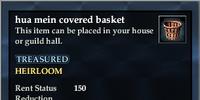 Hua mein covered basket