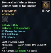 Stormcaller's Winter Weave Leather Pants of Restoration