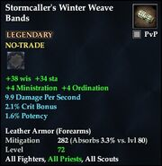 Stormcaller's Winter Weave Bands