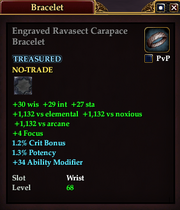 Engraved Ravasect Carapace Bracelet