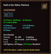 Staff of the Fallen Warlock