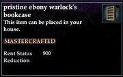 Ebony Warlock's Bookcase
