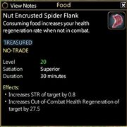 Nut encrusted spider flank