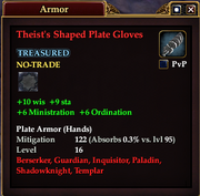 Theist's Shaped Plate Gloves