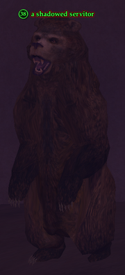 A shadowed servitor (bear)