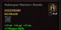 Nektropos Warrior's Mantle