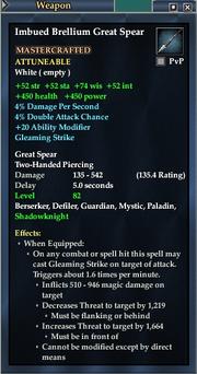 Imbued Brellium Great Spear
