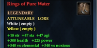 Rings of Pure Water