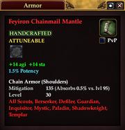 Feyiron Chainmail Mantle