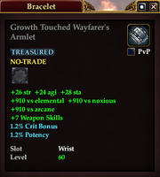 Growth Touched Wayfarer's Armlet
