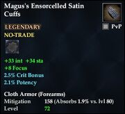 Magus's Ensorcelled Satin Cuffs