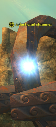 A dustwind shimmer