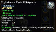 Nightshadow Chain Wristguards