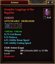 Seraphic Leggings of the Beguiler
