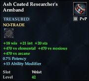 Ash Coated Researcher's Armband