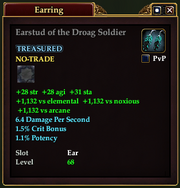 Earstud of the Droag Soldier