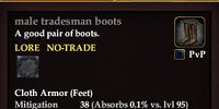 Male tradesman boots