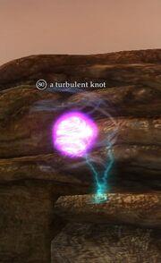 A turbulent knot