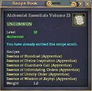 Alchemist Essentials Volume 23