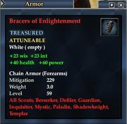 Bracers of Enlightenment
