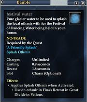 Festival water